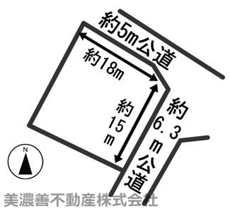 【区画図】54866 岐阜市大蔵台土地