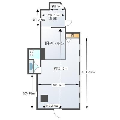 【外観】1階店舗 飲食店可 小松 上新庄駅