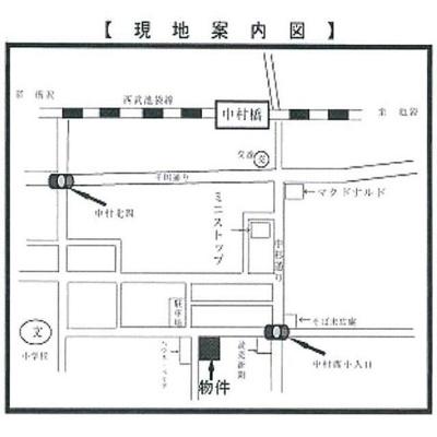【地図】東洋中村橋