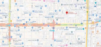 【地図】プレサンス心斎橋ラヴィ