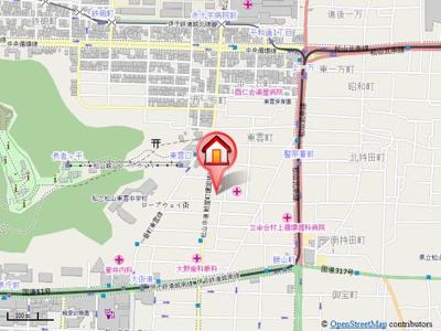 【地図】ロイヤルアネックス喜与町