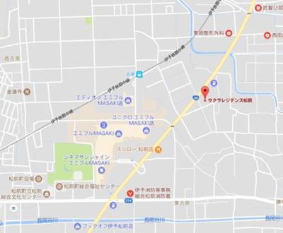【地図】サクラレジデンス松前