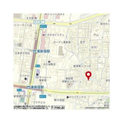 【地図】ナビウス新宿七丁目