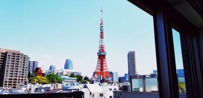 東京タワー見えるお洒落なお部屋