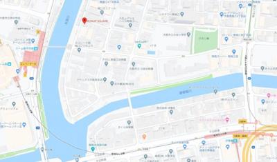 【地図】ラナップスクエア南堀江