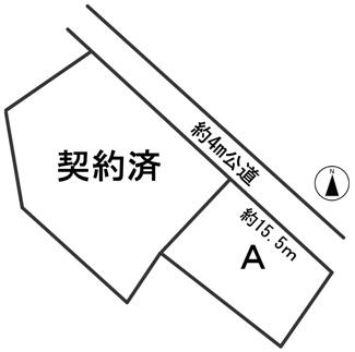【区画図】54883 本巣市七五三分譲地