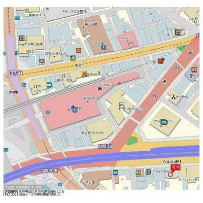 【地図】プライア渋谷