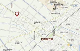 【地図】コーポひまわりB棟
