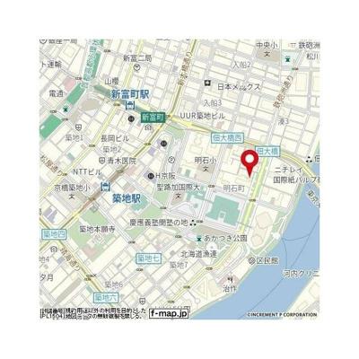 【地図】グランスイート明石町