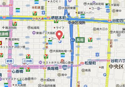 【地図】レジェンドール心斎橋EAST