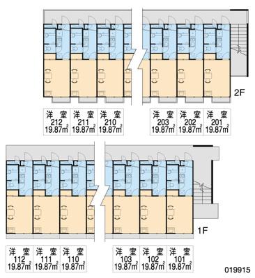 【区画図】レオパレスMATSUDA