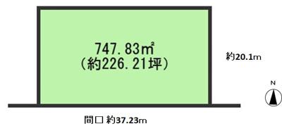【区画図】向陽台2丁目事業用定期借地