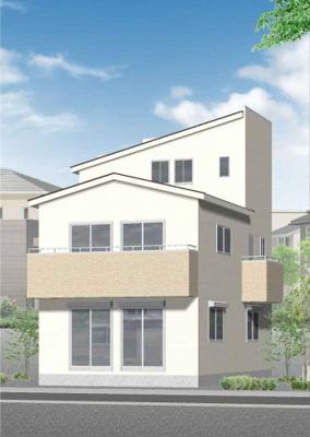 【外観パース】神戸市垂水区多聞台2丁目 新築戸建