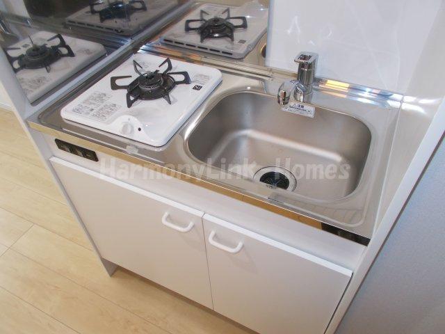 ソフィアハミングのコンパクトなキッチンで掃除もラクラク(1F参考写真)