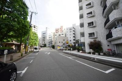 マンション周辺道路です
