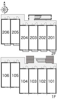 【区画図】レオパレスフローラ