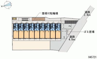 【地図】レオパレスムーンライトスクエア