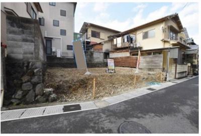 【前面道路含む現地写真】宇治市下宇治下居 建築条件付き土地