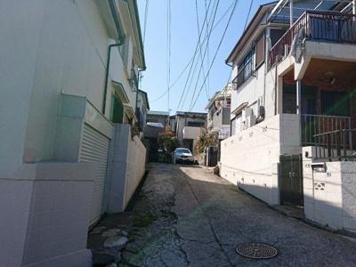 【前面道路含む現地写真】神戸市垂水区潮見が丘1丁目 土地