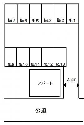 【区画図】西小岩浅見駐車場