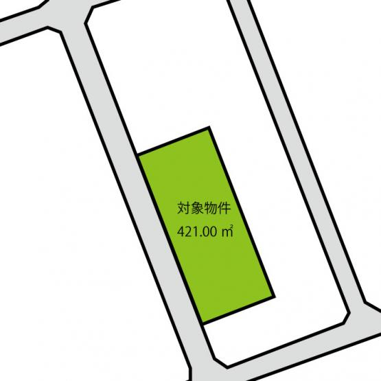 土地面積:421.00㎡!広々とした敷地です!