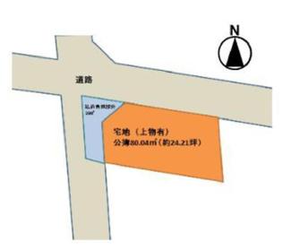 【土地図】城陽市枇杷庄島ノ宮 注文建築 建築条件なし 土地