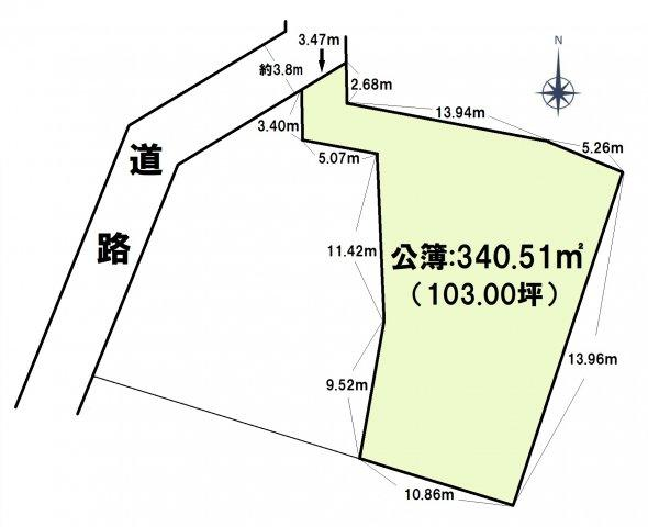 【土地図】七隈3丁目土地