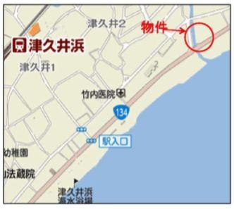 【地図】横須賀市津久井2丁目 第一種住居地域 売地