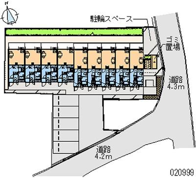 【地図】レオパレスHAPPY森之宮