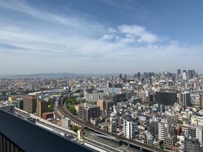 大阪市内一望
