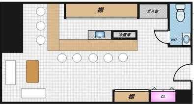 【外観】居抜 スナック 宗右衛門町 日本橋駅