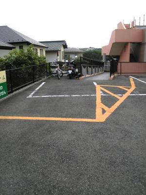 【外観】アベニュー白鳥敷地内駐車場