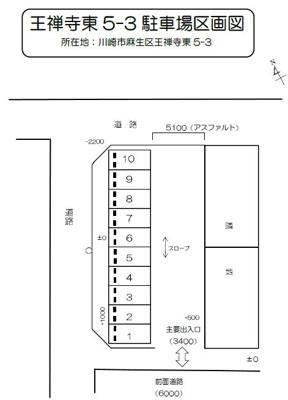 【区画図】王禅寺東(5-3)駐車場