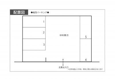 【区画図】織茂パーキング