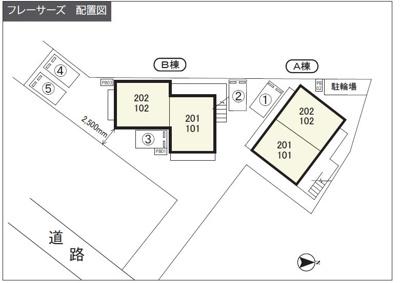 【区画図】フレーサーズ駐車場