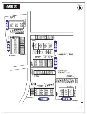 【区画図】ライブピア弐番館