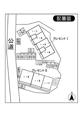 【区画図】クレセント1・2駐車場