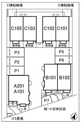 【区画図】コトン駐車場