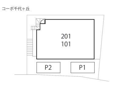 【区画図】コーポ千代ヶ丘