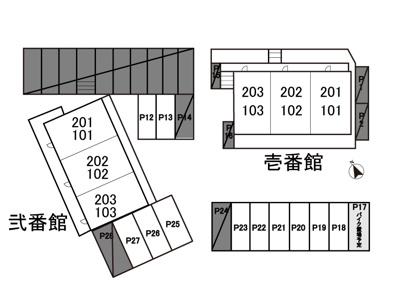 【区画図】ティ・エス ハイム駐車場