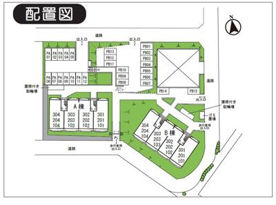 【区画図】グランシャリオ都筑駐車場