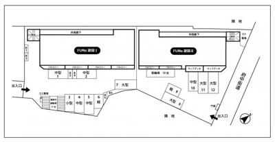 【区画図】FUNs遊園駐車場/ファンズ遊園駐車場