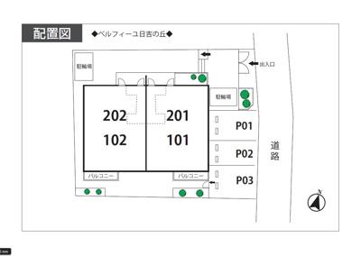 【区画図】ベルフィーユ日吉の丘駐車場