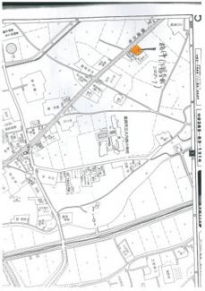 【地図】真岡市下籠谷町