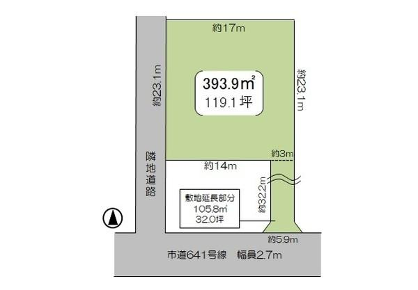 【土地図】牛久市田宮町