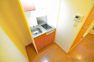 【キッチン】レオパレス長居西