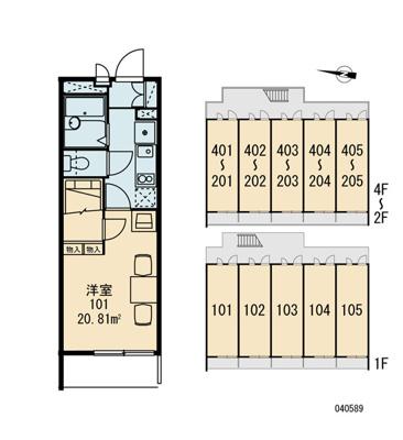 【区画図】レオパレスアブリール3番館