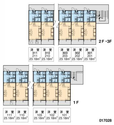 【区画図】レオパレスプレノタートⅢ
