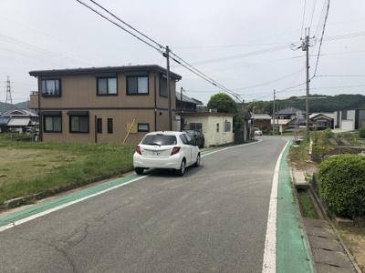 【前面道路含む現地写真】小野市下大部町売土地