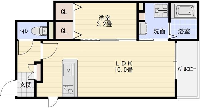ヒノカ2 1LDK 賃貸 アパート ハイツ いい部屋ネット 大東建託